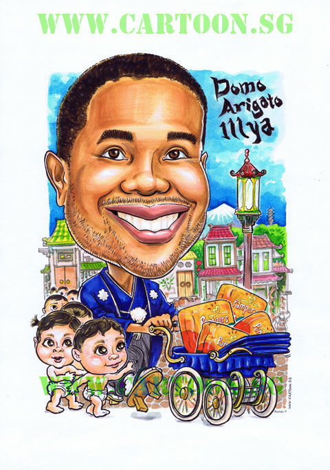2011-04-29-Pampers-Oriental-Baby-Stroller-Caricature
