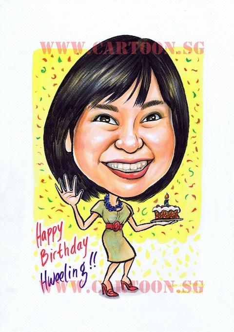2011 06 04 birthday cake caricature gift 480px girl birthday cake cartoon on birthday cake catering singapore