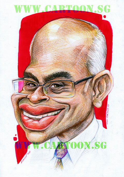 Caricature of Professor from SIM University