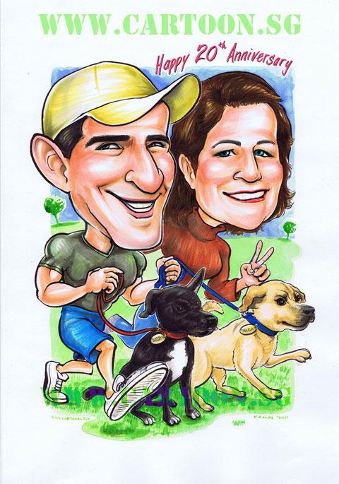 Couples Weddings Cartoon Sg Singapore Caricature