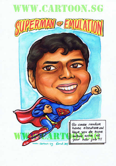Indian Superman farewell gift for Engineer