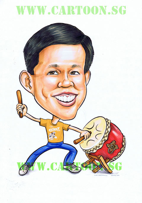 Caricature of acting minister Mr. Chan Chun Sing