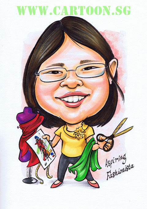 A Christmas Gift For Mother And Daughter Cartoon Sg Singapore Caricature Artists