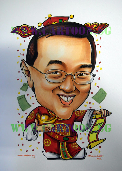 God of Fortune Caricature