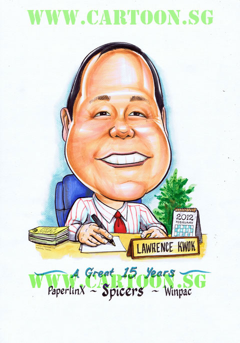 Gift for Boss Caricature