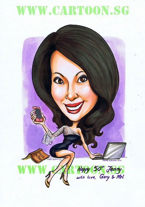 Caricature Gift For A Lady of Leisure