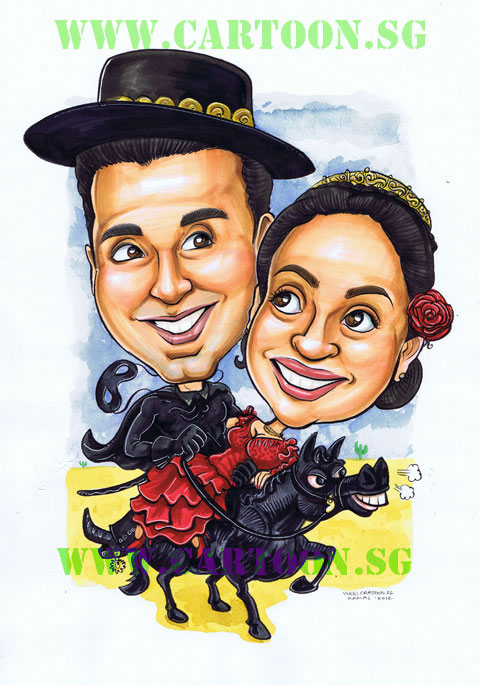 Zorro Got Married and Ordered a Wedding Caricature
