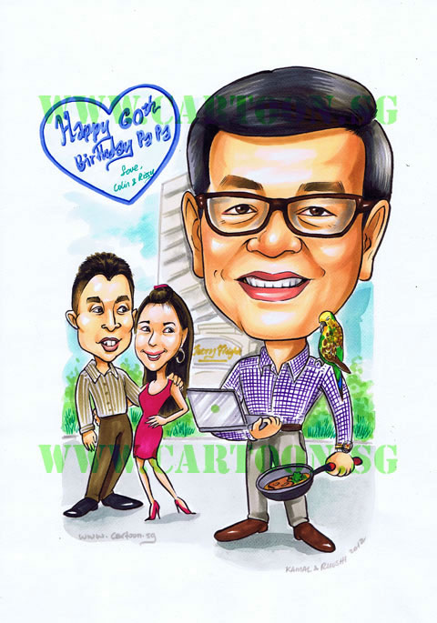 Caricature Gift for Father's birthday