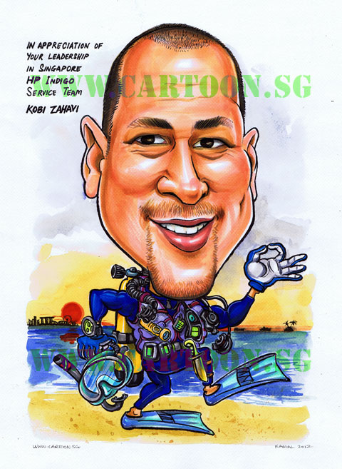 Caricature Gift Appreciation leadership