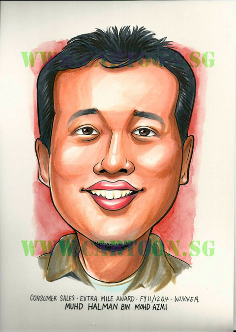 Award Winner Caricature Gift