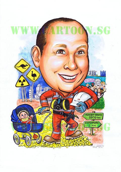 2012-09-11-Caricature-miner-mining-uranium-industrial-corporate-gift-caricature