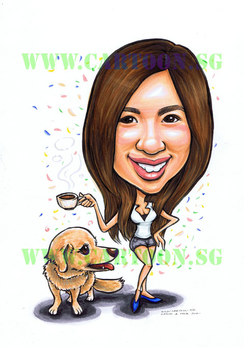 2012-12-17-girl-coffee-dog-caricature-singapore