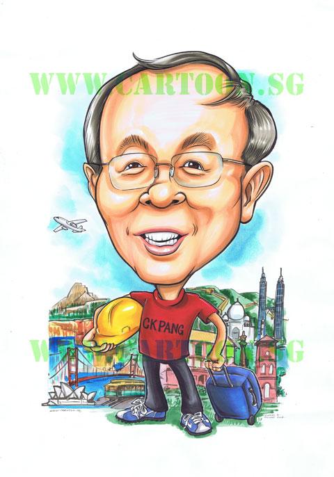 2012-12-19-caricature-redhouse-malacca-blueluggage-sydneyoperahouse-blueshoes