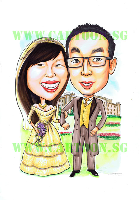 2013-01-18-Just-Married-Wedding-Couple-Caricature