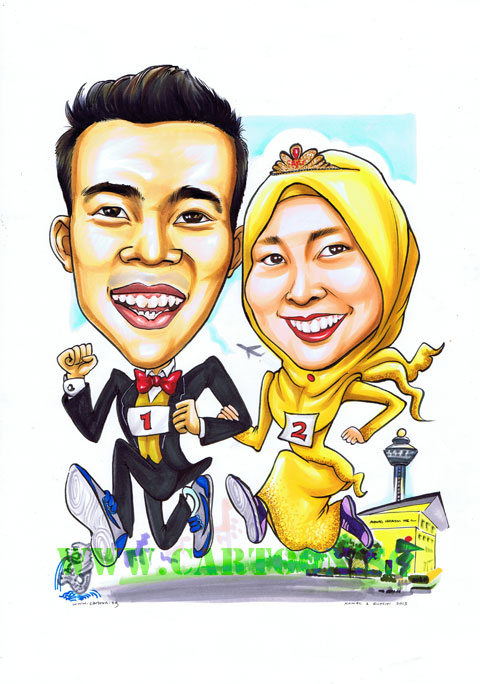 2013-02-21-Wedding-Caricature-School-Changi-Airport-Melion-